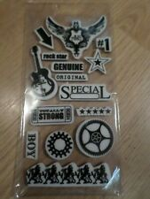 Guitar Rock Star - Rubber stamp Collection for craft projects - NEW