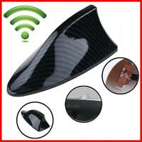 Carbon Fiber Style Car Shark Fin Aerial Antenna Mast Roof AM/FM Radio Signal UK