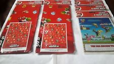 New Super Mario Bros Party Tablecloths 138 x183cm + 24 Party Bags Free Uk Post