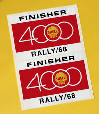 SHELL 4000 RALLY Classic Car COMPETITOR 1968 Race sticker MINI COOPER TRIUMPH