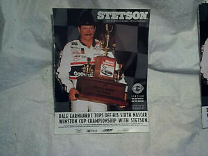 1994 DALE EARNHARDT STETSON HAT 1993 WINSTON CUP 6th CHAMPIONSHIP AD PRINT,nasca