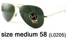 Ray-Ban Aviator Grey Green Lenses 58mm Sunglasses - RB3025-13
