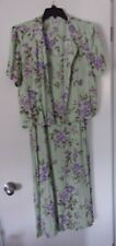 Women's 14 Long/Mid-Calf Midi 2 Piece Dress Jumper w/Jacket Green/Violet