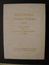 ALBERT EINSTEIN AKADEMIE-VORTRÄGE Akademie der Wissenschaften der DDR 1978