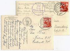 Autriche de 1955,2 Cartes postales après Berlin avec Tarif spécial