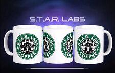 STAR Labs The Flash Starbucks Inspired Coffee Tea Gift Mug Cup New DC comics