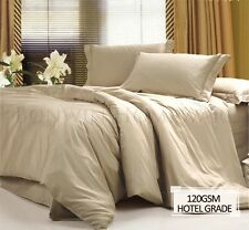 HOTEL QUALITY 1000+ WRINKLE FREE EASYCARE SINGLE BED SHEET SET - TAN