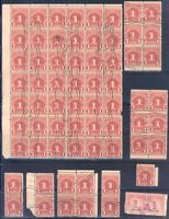UNITED STATES LOT OF USED POSTAGE DUES IN LARGE MULTIPLES AS SHOWN