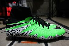 New listing Nike Hypervenom Phantom II iD 2 Size 10 FG Pro Soccer Cleat Neon/BlackNike Hyper
