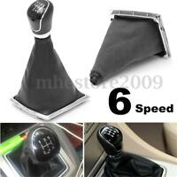 Black 6 Speed Car Gear Shift Knob Stick Gaitor Gaiter Boot Cover For Ford