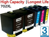 5x Compatible 702XL Ink cartridge alt. for Epson Workforce WF3720,WF3725,WF3730