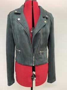 NWT - Tokito Emerald Velvet Biker Jacket Size 12