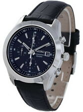 Seiko Chronograph 100m Leather Strap Men's Watch SNDA87P2