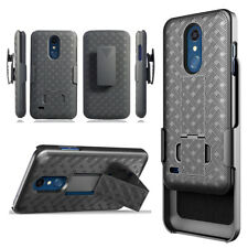 For LG Phoenix Plus  Harmony 2  Holster Case Cover Belt Clip Stand Slim Light