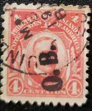 Philippines stamp Official Business Hand stamped small Bold O.B