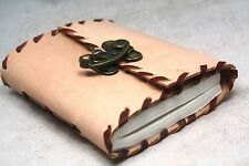 Vintage Handmade Leather Journal / Diary Blank Notebook Sketchbook Antique Style