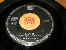 LES CHECKERS - STOP IT - SCOTCH MADISON  / LISTEN - ROCK N ROLL