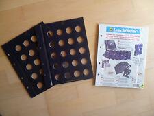 Original LEUCHTTURM Vista Münzblätter für 50 Cent Münzen 2er Pack NEU & OVP 28