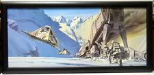 Star Wars ESB LUKE DOWNS AT-AT FRAMED CONCEPT PRINT Chiang 1980 Empire