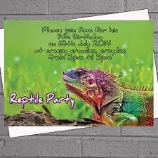 Iguana Reptile Childrens Kids Birthday Party Invitations x 12+envs H0562