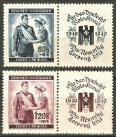 DR Nazi 3rd Reich RARE WW2 Stamp Swastika Eagle Nurse with Soldier SS Red Cross