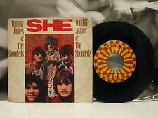 "TOMMY JAMES & THE SHONDELLS - SHE / LOVED ONE - 45 GIRI 7"" VG+/VG+ ITALY 1969"