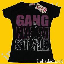 "niña ""Estilo Gangnam"" Manga Corta Camiseta a la moda talla 7-13 años buen precio"