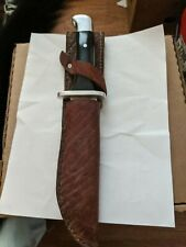 VINTAGE  BUCK 124 FRONTIERSMAN KNIFE w/ old leather