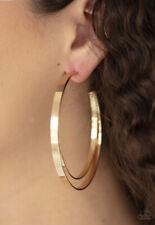 Paparazzi Jewelry Moon Child Metro- Gold Hoop Earrings