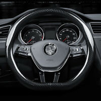 "Universal Size M 15"" Steering Wheel Cover D shape Carbon Fiber Sport Racing"