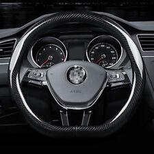 "Universal Size M 15"" Steering Wheel Cover D shape Carbon Fiber Sport Racing"