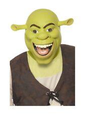 Shrek Maske Grün Herren Latex Kostüm Zubehör Lizenziert Film Film