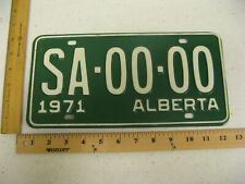 1971 71 ALBERTA CANADA SAMPLE LICENSE PLATE #SA-00-00