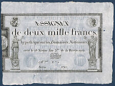 ASSIGNAT - 2000 FRANCS - muszinski n° 52 - 18 Nivose l'an 3 - n° 174.serie 2782