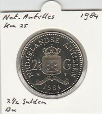 Netherlands Antilles 2 1/2 gulden 1984 BU - KM25