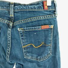 7 Seven For All Mankind Flare Denim Blue Jeans Pants Women's 25 x 29