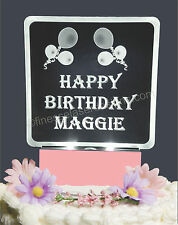 Happy Birthday Balloons Personalized Lighted Cake Topper Acrylic LED light up