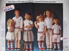 PUBLICITÉ 1979 PETIT-BATEAU POUR QUE LES ENFANTS PASSENT DE BONNES JOURNÉE