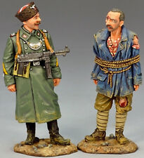 KING & COUNTRY WW2 GERMAN ARMY WS142 COSSACK FELDGENDARMERIE WITH PRISONER MIB