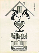 PUBLICITE  1968   GIMM  menuiseries