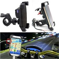 """New listing 3.5-7"""" Cell Phone Gps Mount Holder w/ Usb Charge for Motorcycle Atv Universal"""