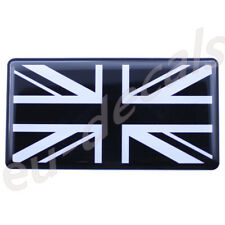 Black White Union Jack flag 3D Decal domed 7cm for Triumph Thruxton Bonneville