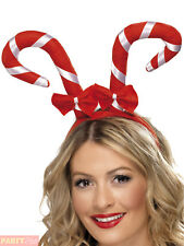 Candy Cane Headband With Bows Red (us Import) AC