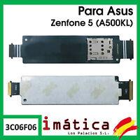FLEX DE LECTOR DE TARJETA DUAL SIM PARA ASUS ZENFONE 5 CONECTOR CABLE A500KL