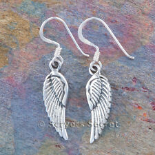 ANGEL WING Earrings Hook Dangle Sterling Silver 925