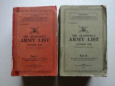 More details for the quarterly army list october 1945