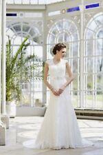 Satin V Neck Mermaid & Trumpet Regular Wedding Dresses