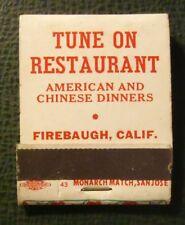 Matchbook - Tune On Restaurant Chinese Firebaugh CA Christmas FULL