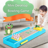 1Set Mini Frog Desktop Bowling Game Finger Catapult Educational Toy For Childr