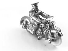 Dinky 37c | Army Royal Corps of Signals Despatch Rider | White Metal